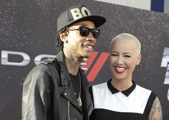 "Rapper Wiz Khalifa and Amber Rose arrive as guests at the premiere of the new film, ""Fast & Furious 6"" at Universal Citywalk in Los Angeles."