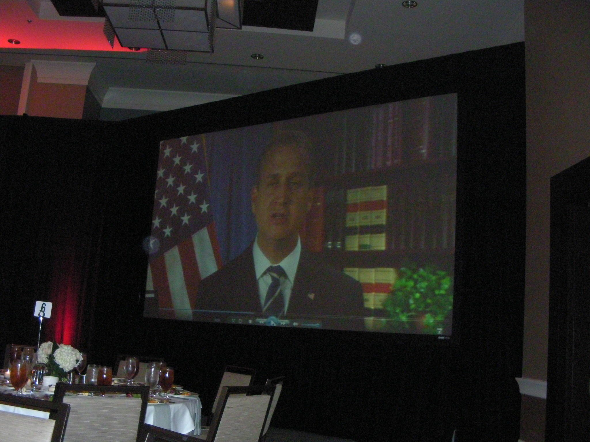U.S. Rep. Mario Diaz-Balart, a Miami Republican who represents part of South Broward, appears via video.