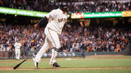 Pablo Sandoval scorched a two-run home run in the bottom of the 10th inning to lift the San Francisco Giants to a 4-2 victory over the Washington Nationals Tuesday in the middle test of a three- game set at AT&T Park.