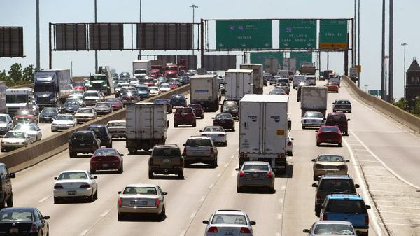 A file photo of the Dan Ryan Expressway on Memorial Day 2004.