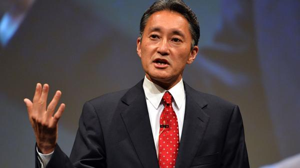 Sony president Kazuo Hirai speaks to the press at the company's headquarters in Tokyo Wednesday.