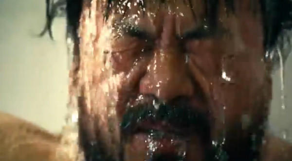 Chinese artist Ai Weiwei in a scene from his new music video.