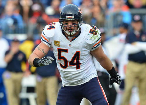 Brian Urlacher announces his retirement from the NFL.