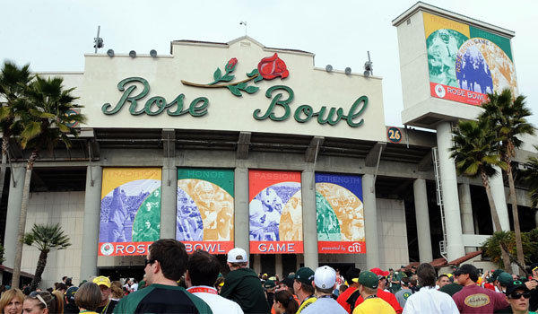 The Rose Bowl will host its 100th namesake event on Jan. 1, then the final BCS championship game five days later.