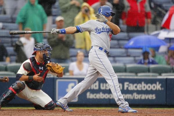 Andre Ethier was benched for today's game against Milwaukee.