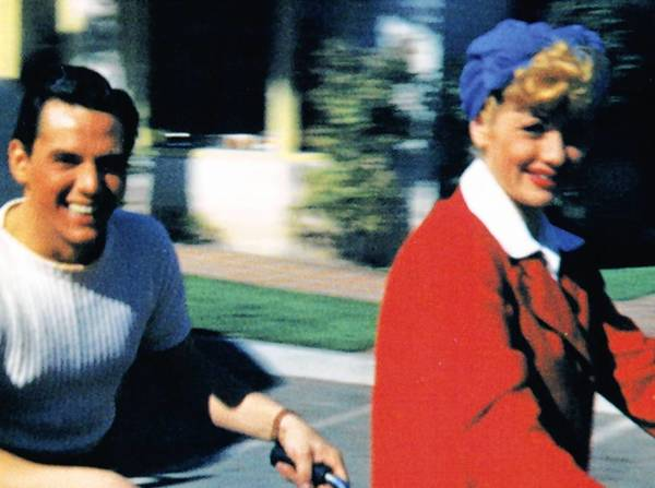 "Lucille Ball and Desi Arnaz, in a still from the movie ""Lucy & Desi: A Home Movie."""