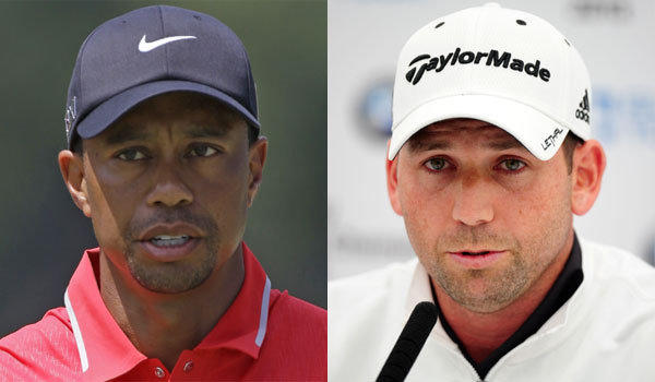 Tiger Woods, left, and Sergio Garcia have taken their feud to a new level in recent weeks.