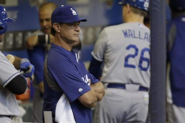 Manager Don Mattingly took a tougher stance with the Dodgers on Wednesday, benching underachieving outfielder Andre Ethier.