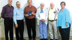Hay honored as 50-year member of Hillcrest Grange
