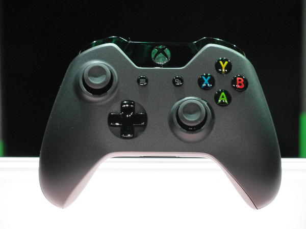 The new controller for Xbox One videogame console is seen at the Microsoft campus in Redmond, Washington.