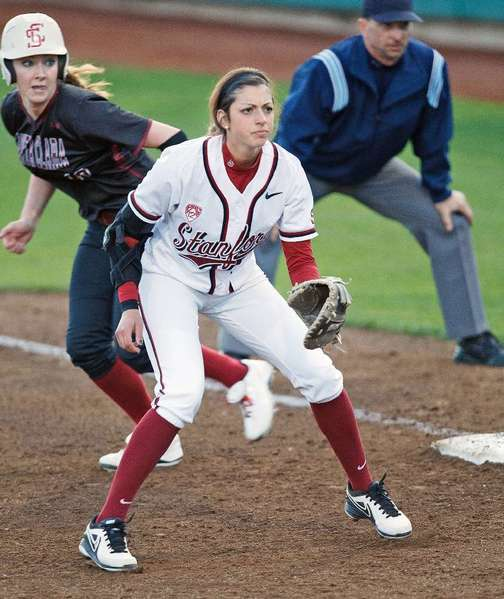 Stanford University's Erin Ashby, a Crescenta Valley High alumna, finished her sophomore season hitting .291 in 58 starts. She tallied 19 runs, 16 extra-base hits, including six home runs, and 35 runs batted in. (Courtesy of Stanford Athletics)