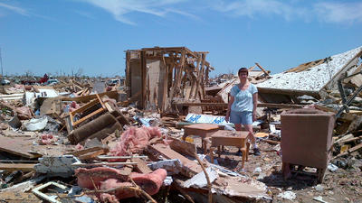 Moore residents return to tornado-ravaged area, consider rebuilding