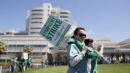 As University of California patient care workers returned to the picket lines in a workplace dispute Wednesday, hospital administrators said they were gratified that so many union members chose to come to work rather than strike.