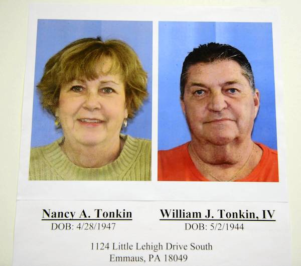 Nancy A. Tonkin and William J. Tonkin, IV have been charged with embezzling more than $850,000.