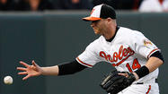 Orioles outfielder Nolan Reimold has a slight tear in his right hamstring that's causing nerve pain in his upper leg, a club source said Wednesday.
