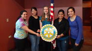 "The 2013 Rotary Scholarship winners and Rotary Youth Leadership Awards (RYLA) recipients were honored at today's luncheon meeting of the West Chicago Rotary at Pal Joey's Restaurant in West Chicago. In attendance were scholarship winners Elizabeth Youngwith, Cristina Fernandez, and Gaby Hernandez, of West Chicago High School, each of whom received a $1000 scholarship, as well as RYLA participants Alena Troia, a freshman at West Chicago High School and Samantha Quinones, a junior.  ""It is a pleasure to be able to award such talented, smart students with our scholarships this year,"" said Rotary President Melody E. Coleman, Administrative Librarian of the West Chicago Public Library District.  ""and also to be able to support RYLA in the development of emerging leaders."""