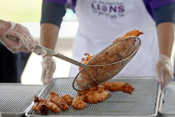 A fresh batch of fried Pacific cod prepared during Newport Harbor Lions Club annual Fish Fry and Carnival last year. This year's event is May 31 to June 2.