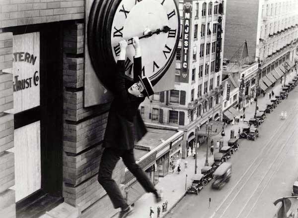 "Harold Lloyd stars in the 1923 silent film ""Safety Last"" on TCM."