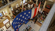 "Macy's hoists ""world's largest U.S. flag in department store"""