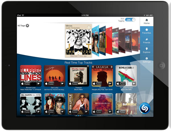 Shazam's updated iPad app can now tag audio on its own.