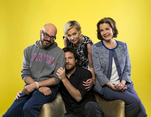 "David Cross, left, Portia de Rossi, Jessica Walter and Jason Bateman star in Netflix's revival of ""Arrested Development."""