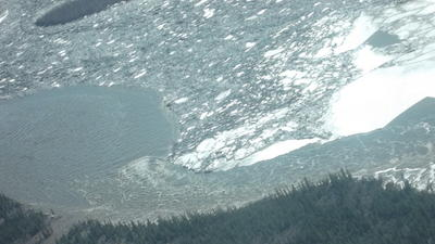 Ice Jam Breaks on Yukon River