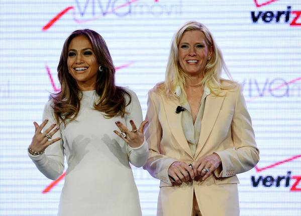Viva Movil by Jennifer Lopez has already begun to sell smartphones, tablets and Verizon wireless plans on its own website. Above, entertainer Jennifer Lopez, left, and Marni Walden, Verizon Wireless' executive vice president and chief operating officer, announce the new mobile brand Wednesday at the CTIA wireless industry trade show in Las Vegas.