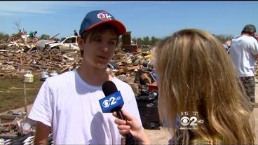 Moore Residents Work Together To Clean Up After Tornado