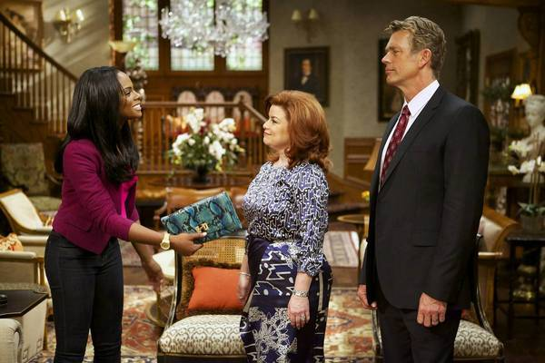 "Tika Sumpter, left, Katheryn Cryer and Jim Cryer in ""The Haves and the Have Nots."""