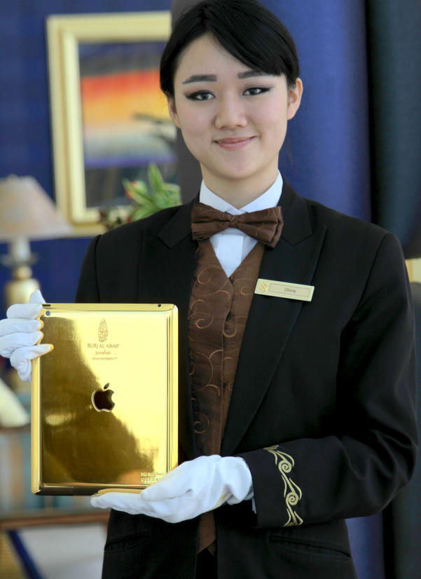 Exclusive 24-karat gold iPads are now available to all Burj Al Arab guests.