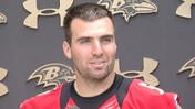 Ravens' Flacco is satisfied with receiving group [Video]