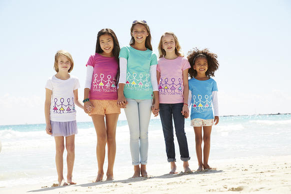 Children's designs for clothing and accessories are showcased, and sold, on the VeryMeri website, with part of the proceeds going toward charity.