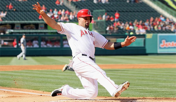 Albert Pujols went two-for-four at the plate with an RBI and scoring a run in the Angels' 7-1 victory over the Seattle Mariners.
