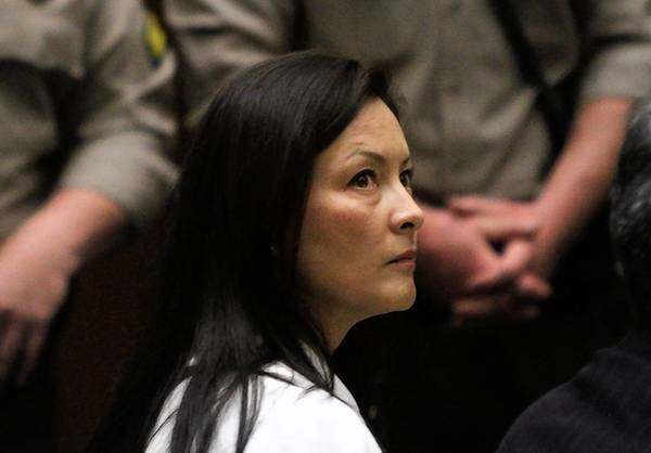 Kelly Soo Park listens to her attorney George Buehler make opening statements at her murder trial in the beating and strangling of Juliana Redding in Santa Monica. Closing arguments were heard in the trial Wednesday.