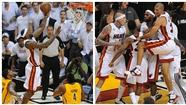 MIAMI — The clock was moving to zeroes, the Heat were down a point, LeBron James took the inbounds pass and, there he went, accelerating to the basket to win the unwinnable game and save the unsave-able night.