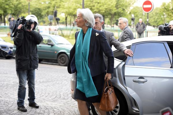 Christine Lagarde, the head of the International Monetary Fund and former French finance minister, arrives at a Paris court for questioning by a judge in a case involving a $366-million payout to a businessman and supporter of former French President Nicolas Sarkozy.