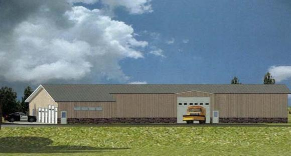 This schematic drawing shows what a proposed county-owned multi-use facility on Beaver Island might look like.