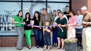 Flying Pie ribbon cutting