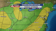 We have a slight risk for severe storms this afternoon