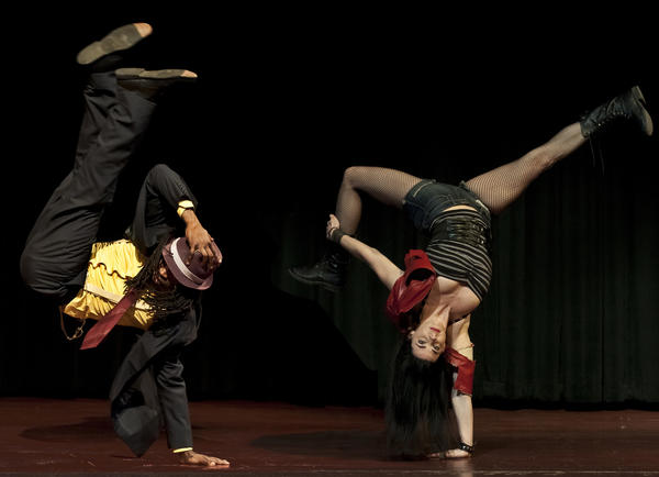 Breakdancing is just one of the styles on display at 'The Cotton Mouth Club' at Victory Gardens Theater.