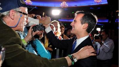 Eric Garcetti's winning strategy took Wendy Greuel strongholds
