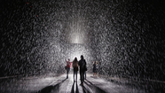 Stunning photos from 'Rain Room' at the MoMA