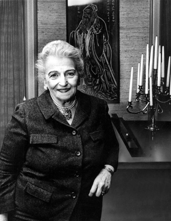Pearl Buck at the Pearl S. Buck Foundation headquarters in Perkasie, Pa., on Dec. 28, 1971.