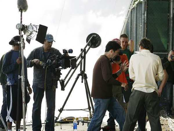 File photo of a film shoot on a CSB Studios lot.