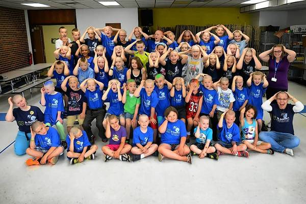 More than 50 students shaved their heads for Bower Elementary School's 3rd annual community service project benefitting cancer research.