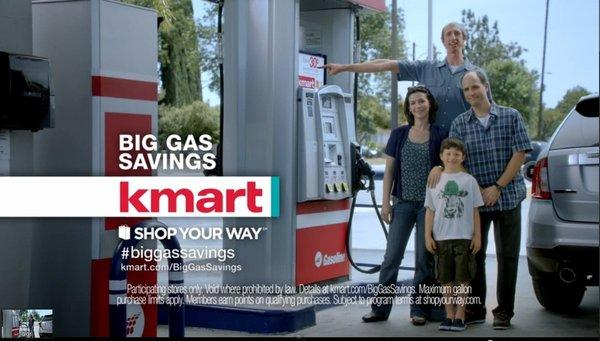 "A scene from Kmart's ""Big Gas Savings"" ad campaign."