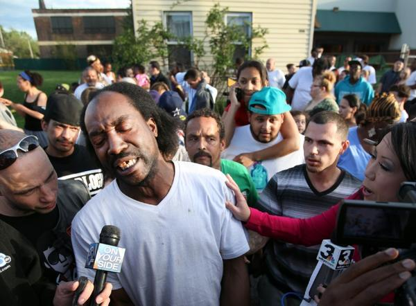 Charles Ramsey, shown talking to reporters following the rescue of Cleveland kidnap victims, will receive free food from McDonald's.