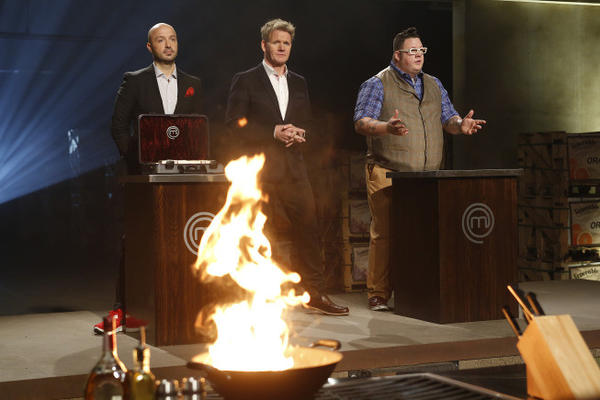 "The three returning ""MasterChef"" judges."