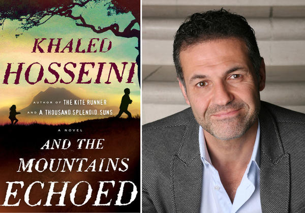 "The cover of ""And the Mountains Echoed"" and author Khaled Hosseini."