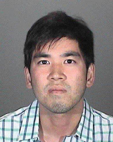 Joseph Lee was arrested Saturday on suspicion of assault with a deadly weapon and refusing to pay for a dinner he consumed.